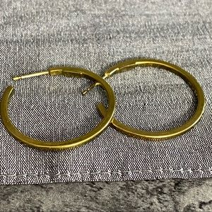Gold Hoop Earrings Marked 925 And 885